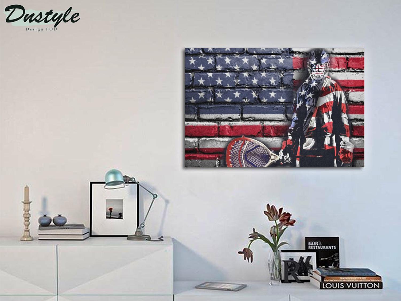 Hockey goalie american flag poster A2
