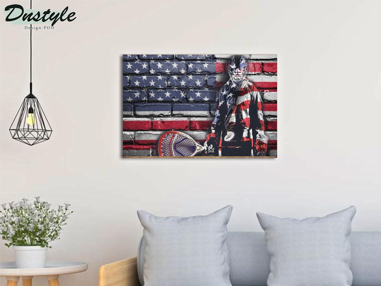 Hockey goalie american flag poster A3