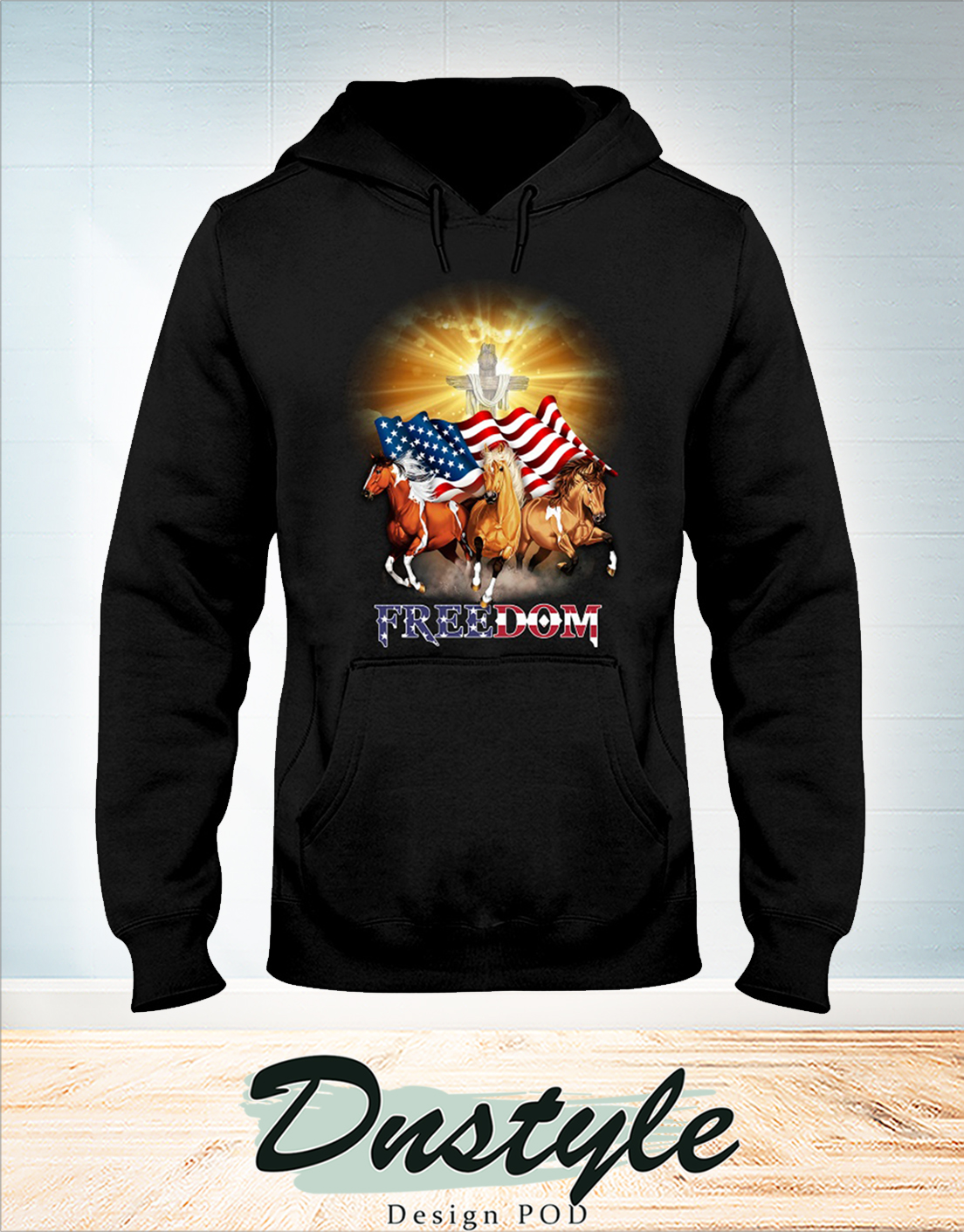 Horse freedom independence day hoodie