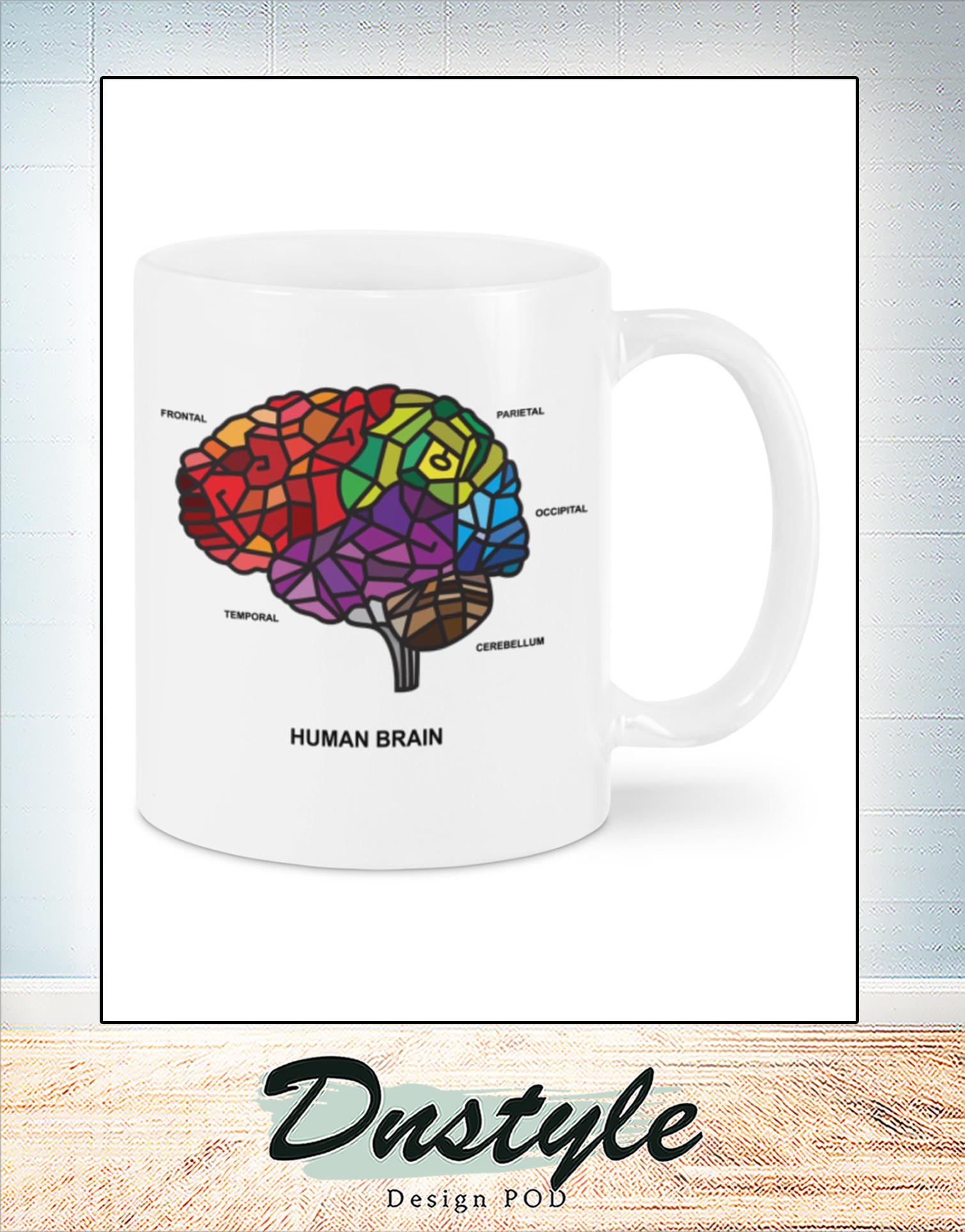 Human brain mosaic ana mug