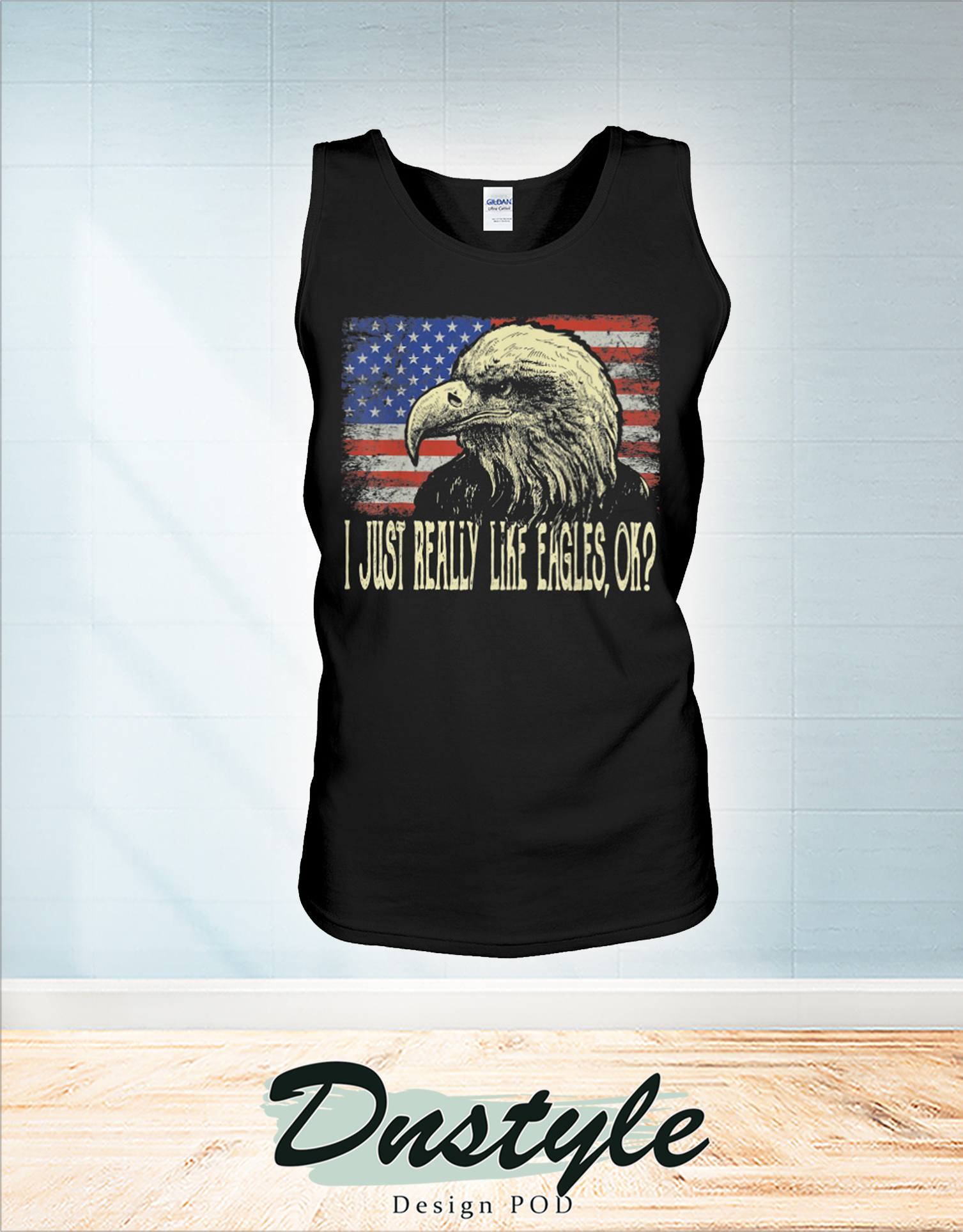 I just really like eagles ok 4th of july tank
