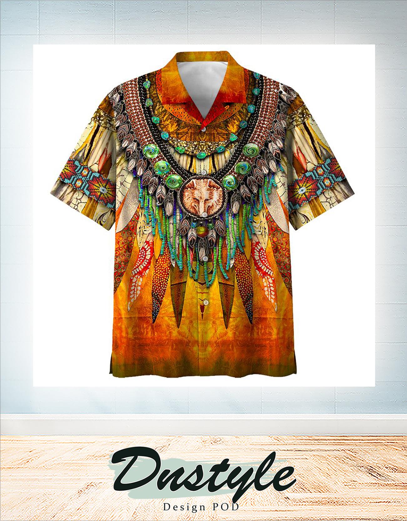 Indigenous hawaiian all over print shirt 1