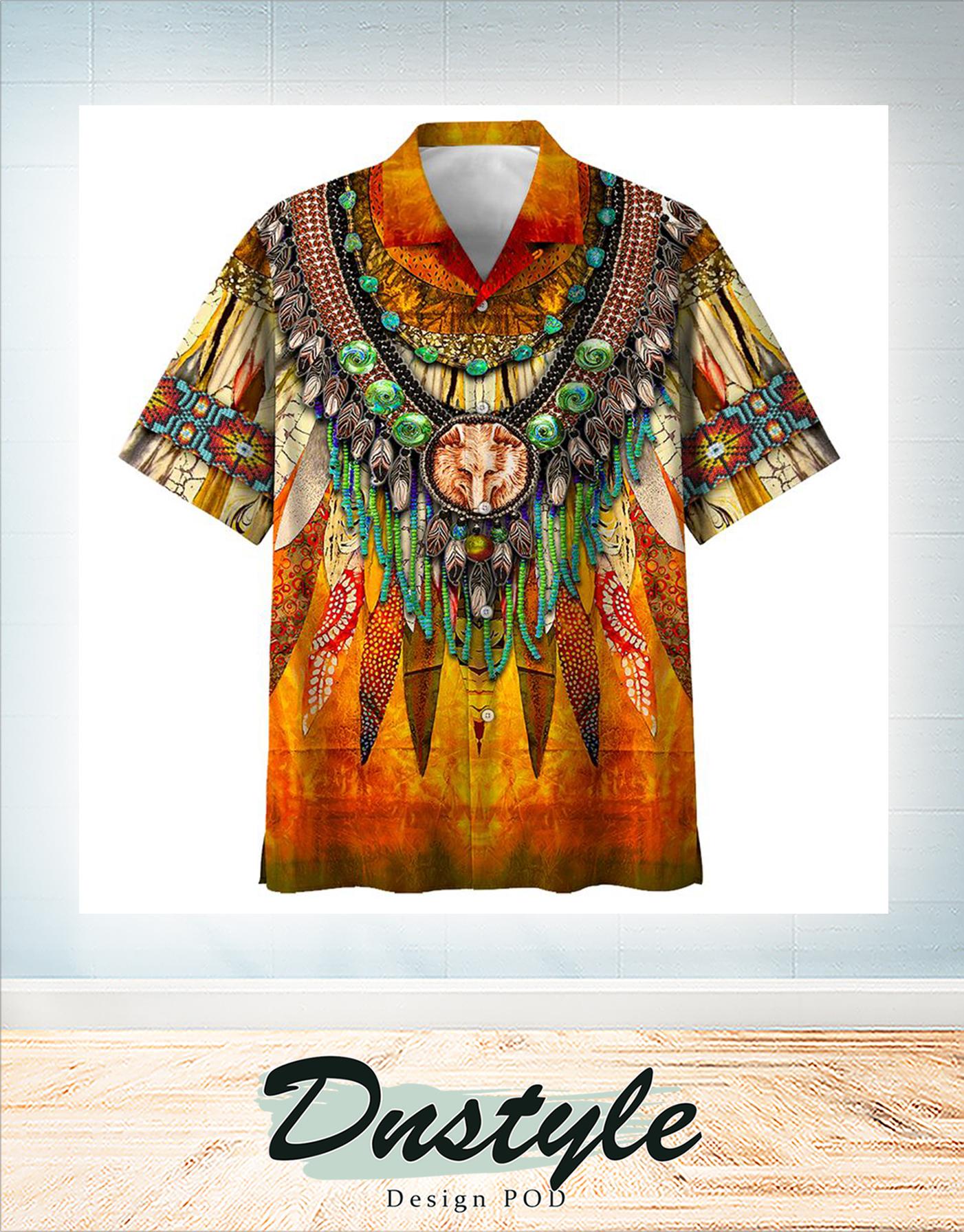 Indigenous hawaiian all over print shirt