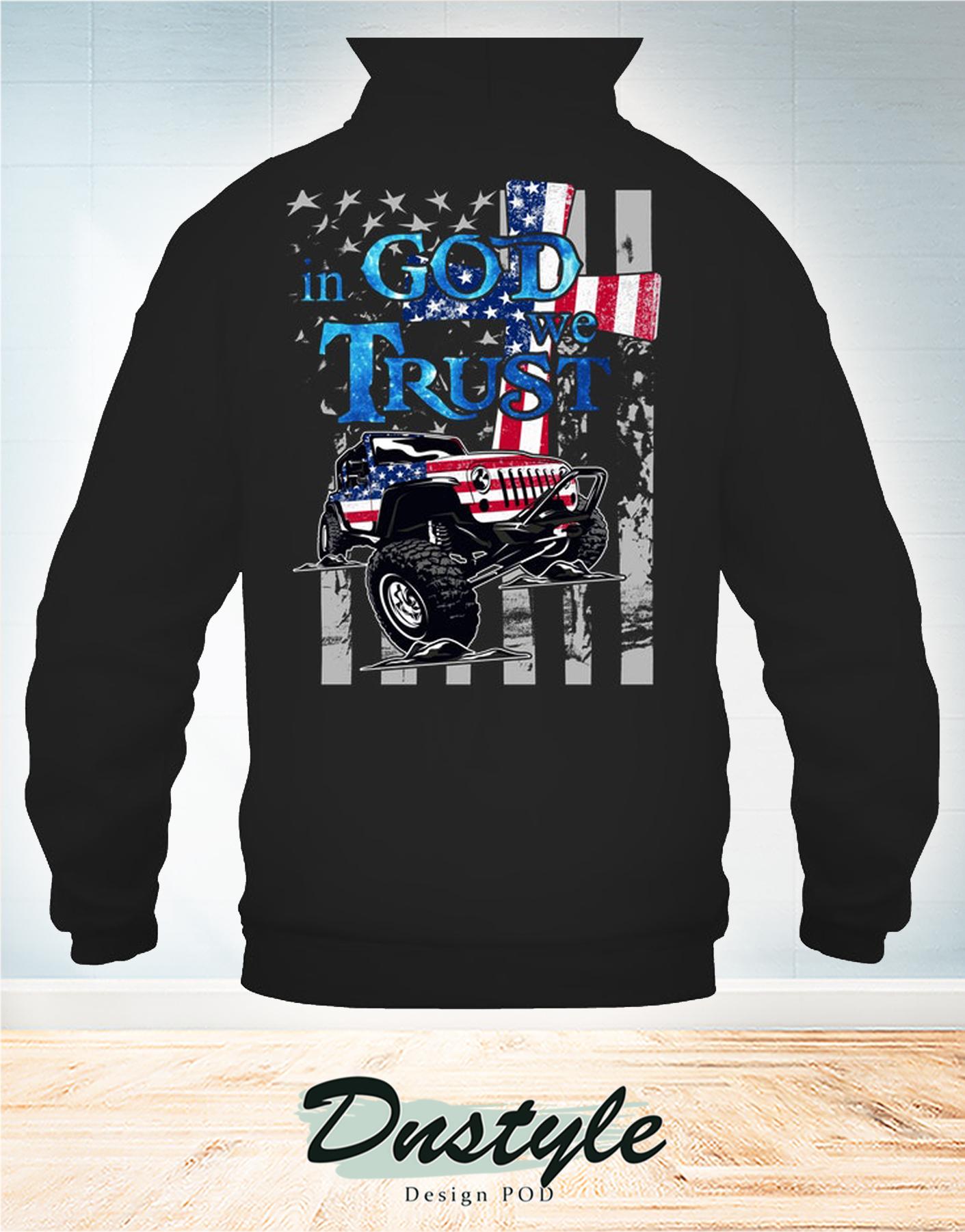 Jeep american flag in god we trust hoodie