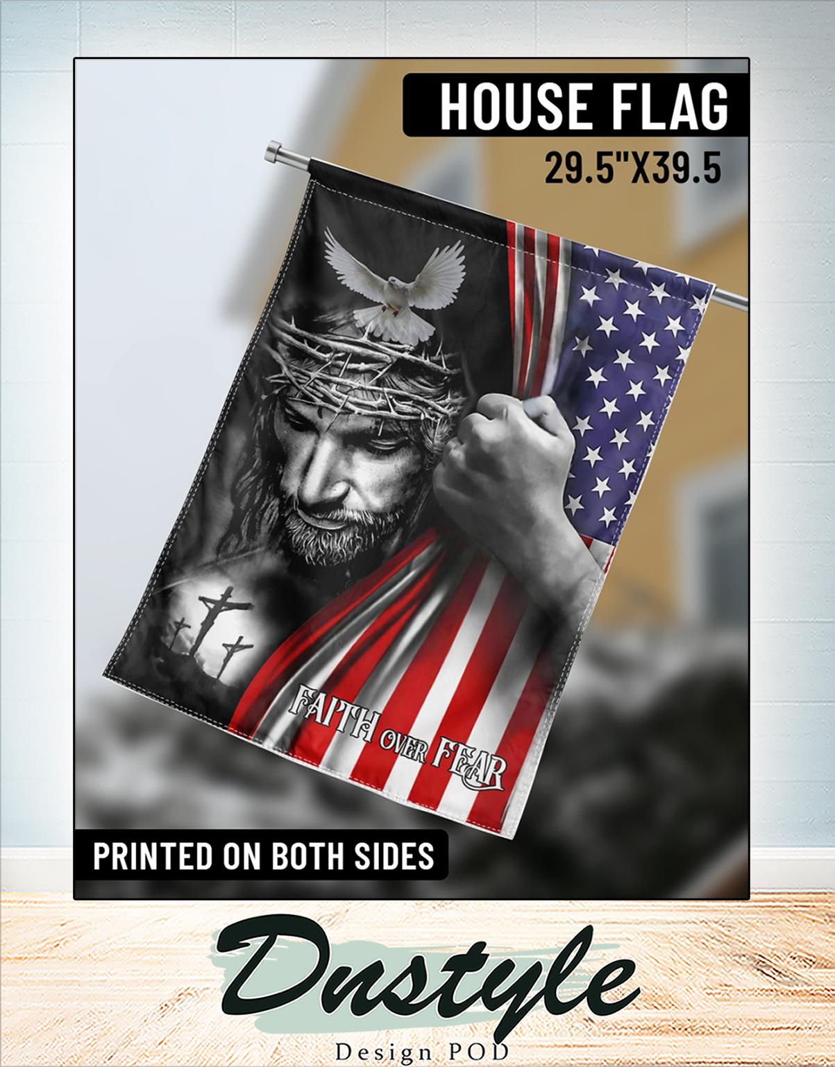 Jesus faith over fear american flag 1