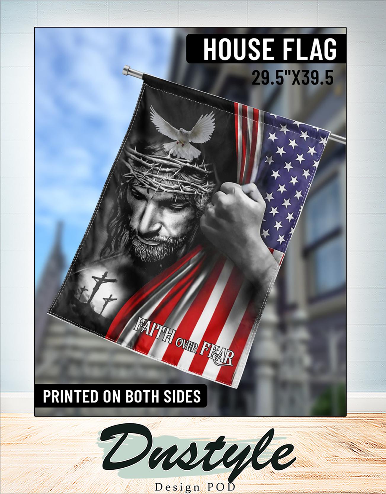 Jesus faith over fear american flag 2