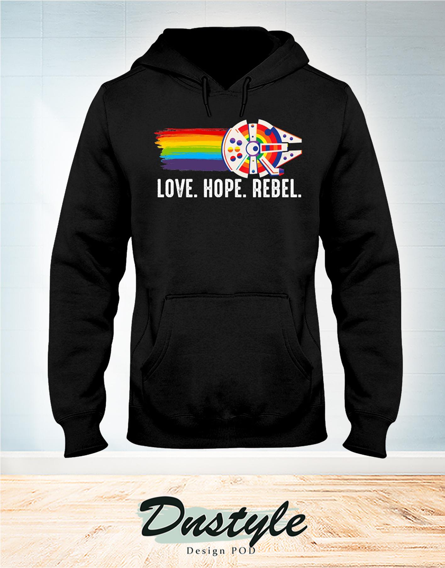 LGBT Millennium Falcon love hope rebel hoodie
