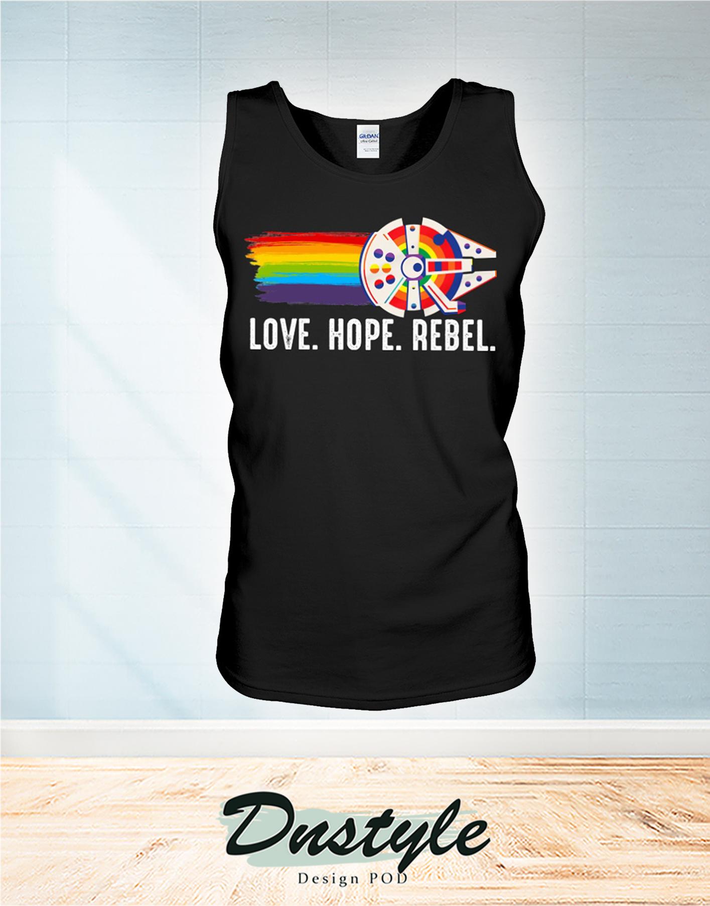 LGBT Millennium Falcon love hope rebel tank