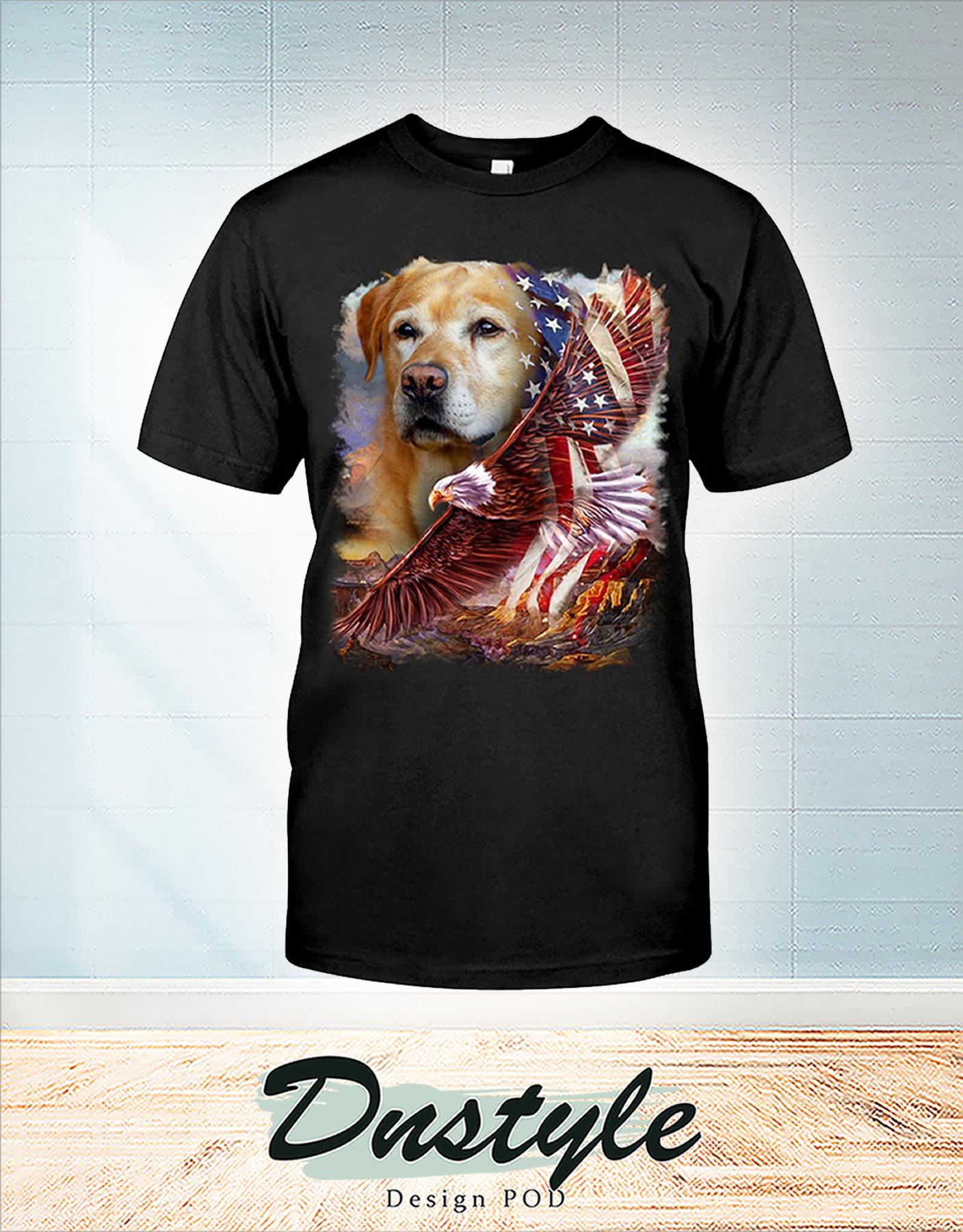 Labrador retriever american patriot 4th of July shirt
