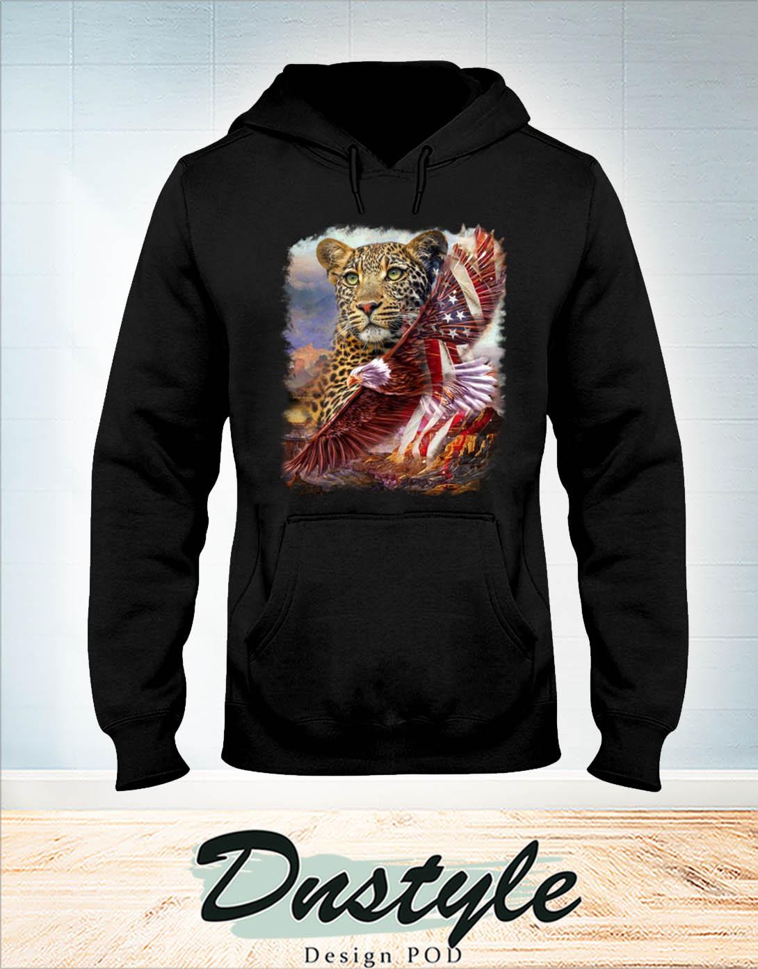 Leopard american patriot eagle hoodie