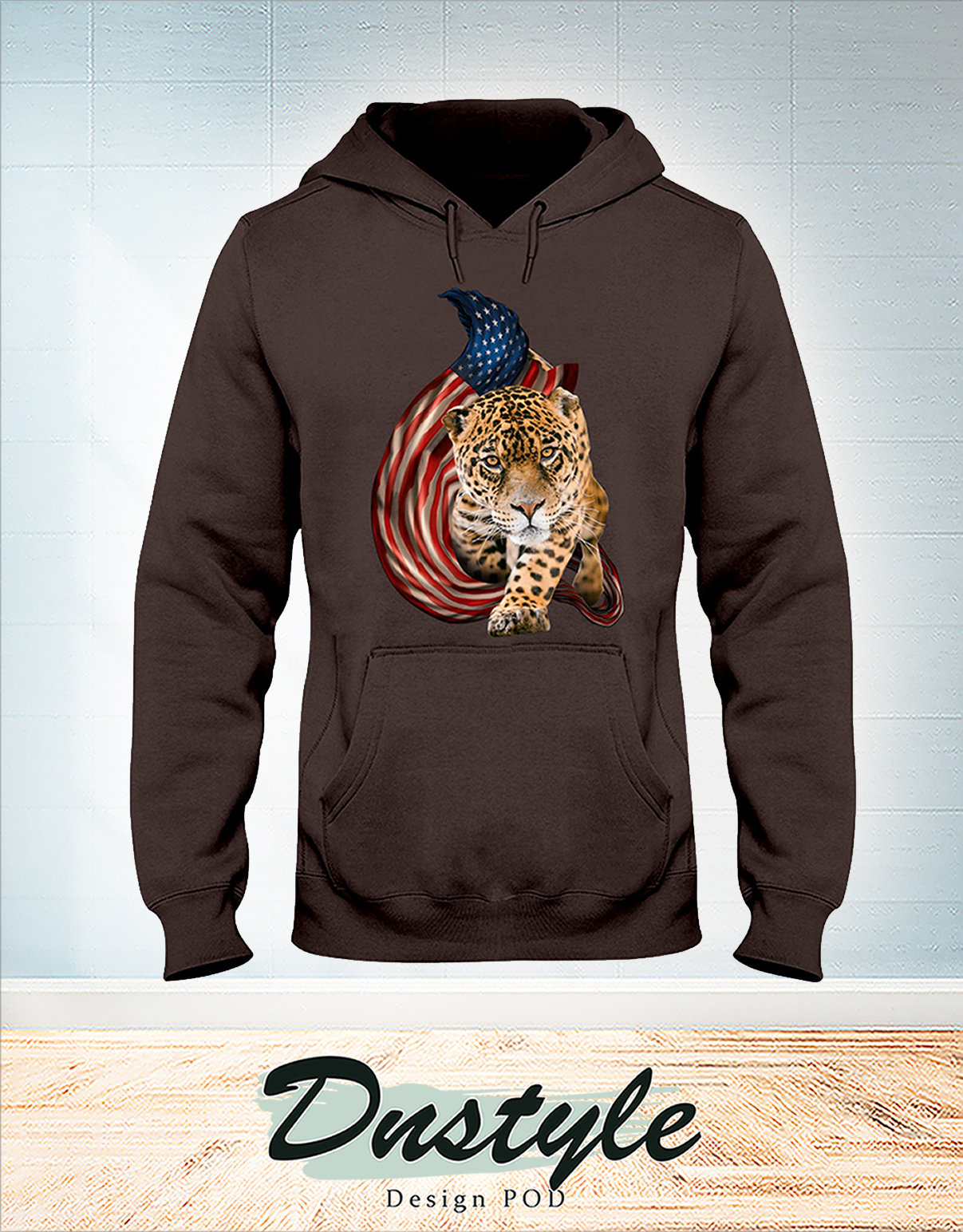 Leopard cool and freedom 4th of July hoodie