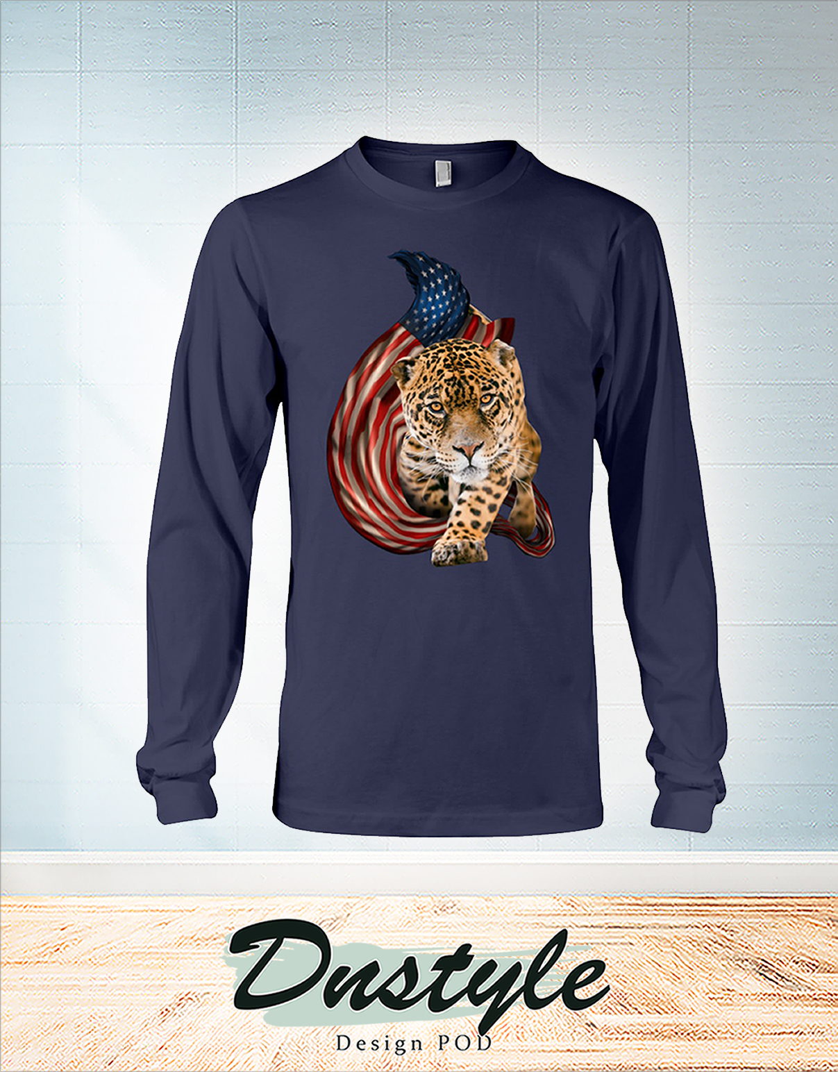 Leopard cool and freedom 4th of July long sleeve