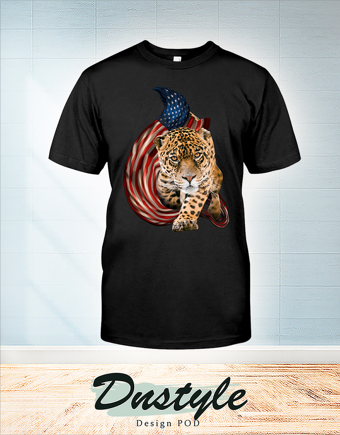 Leopard cool and freedom 4th of July shirt