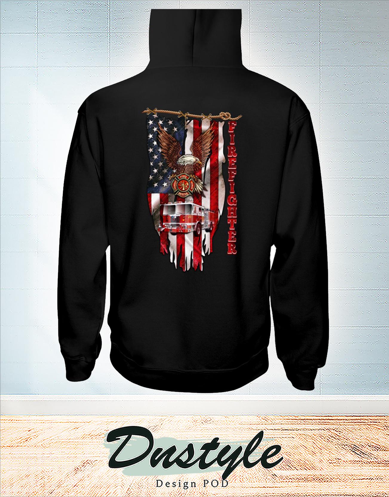 Love firefighter american flag hoodie
