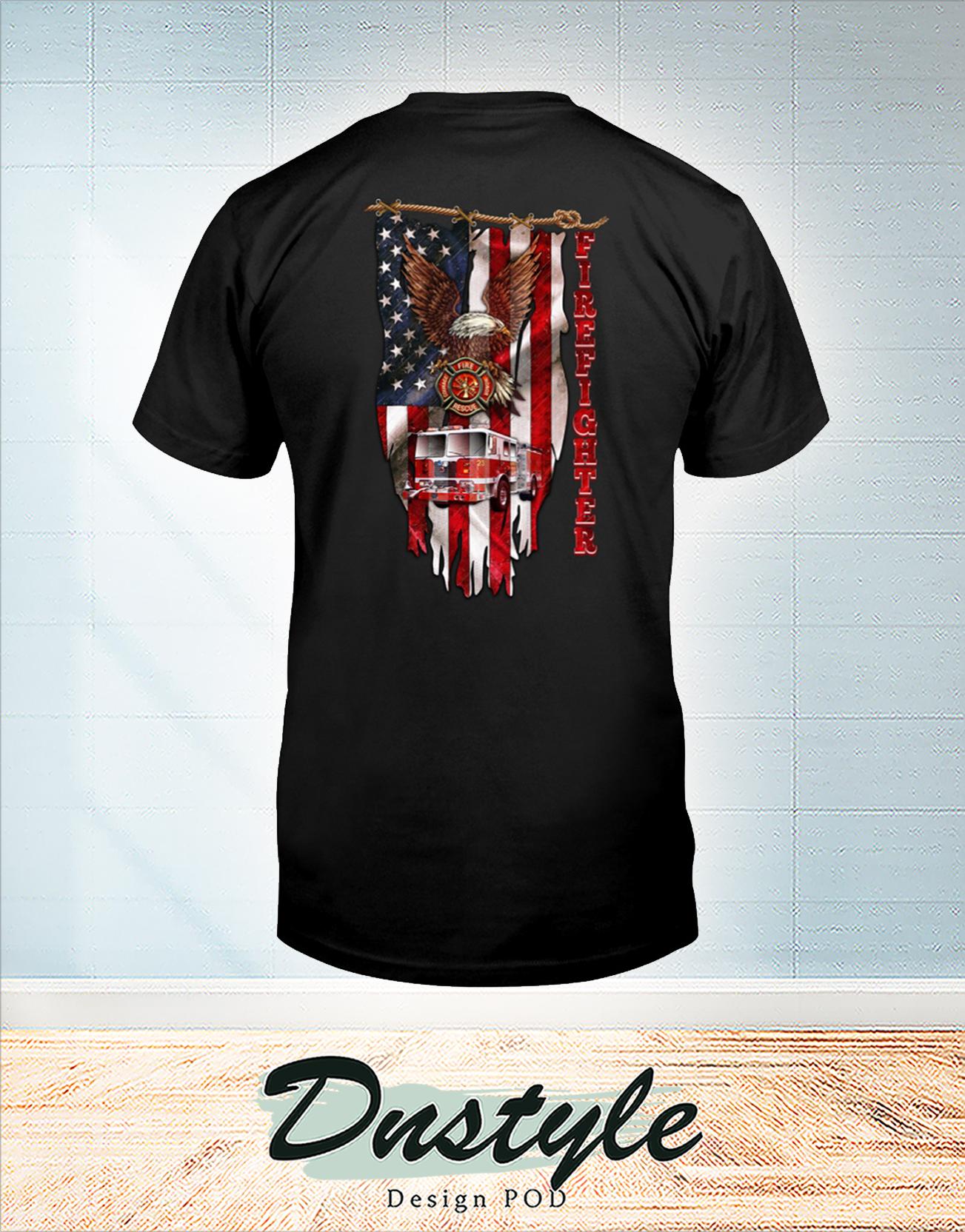 Love firefighter american flag t-shirt