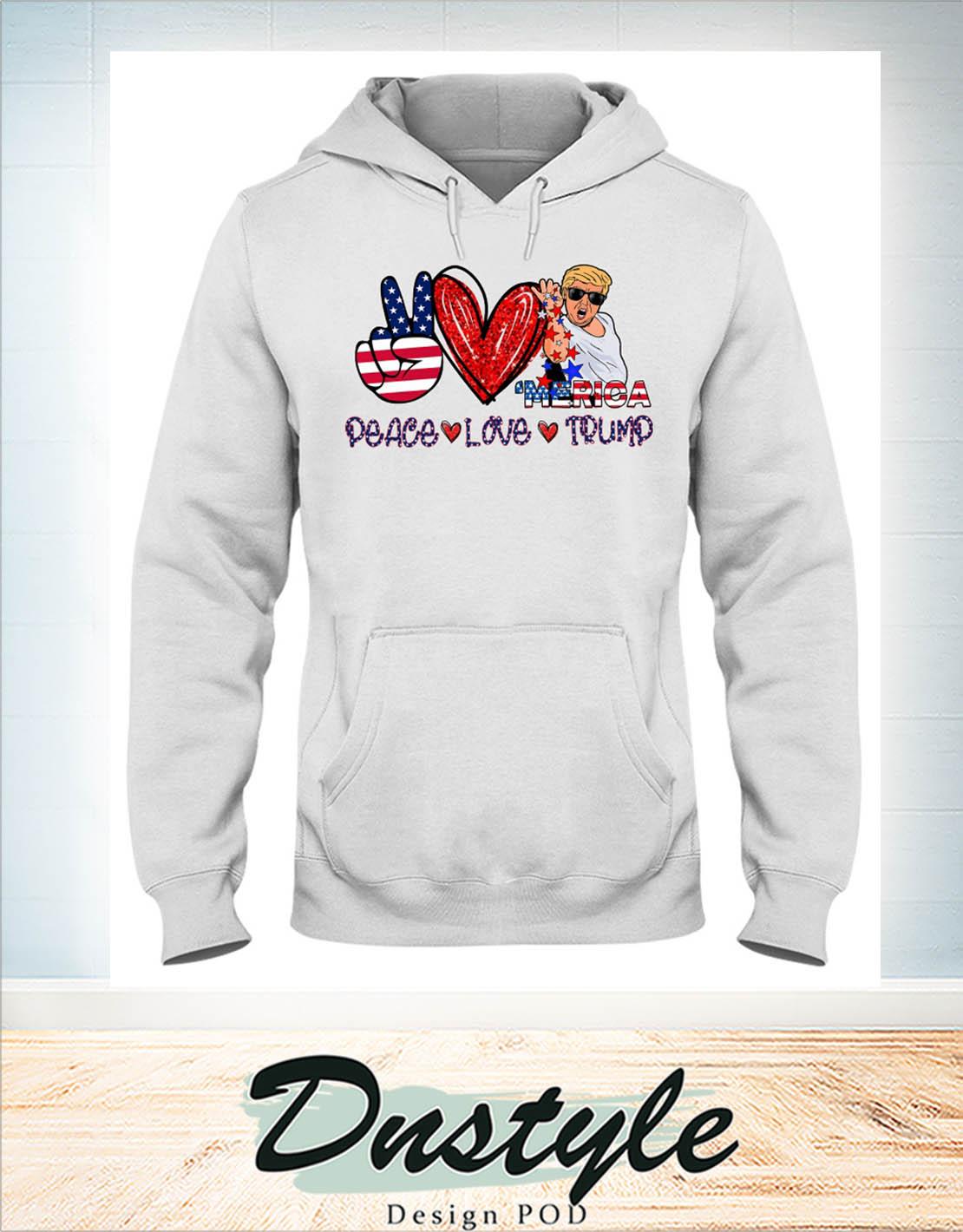 Merica peace love trump Salt bae hoodie