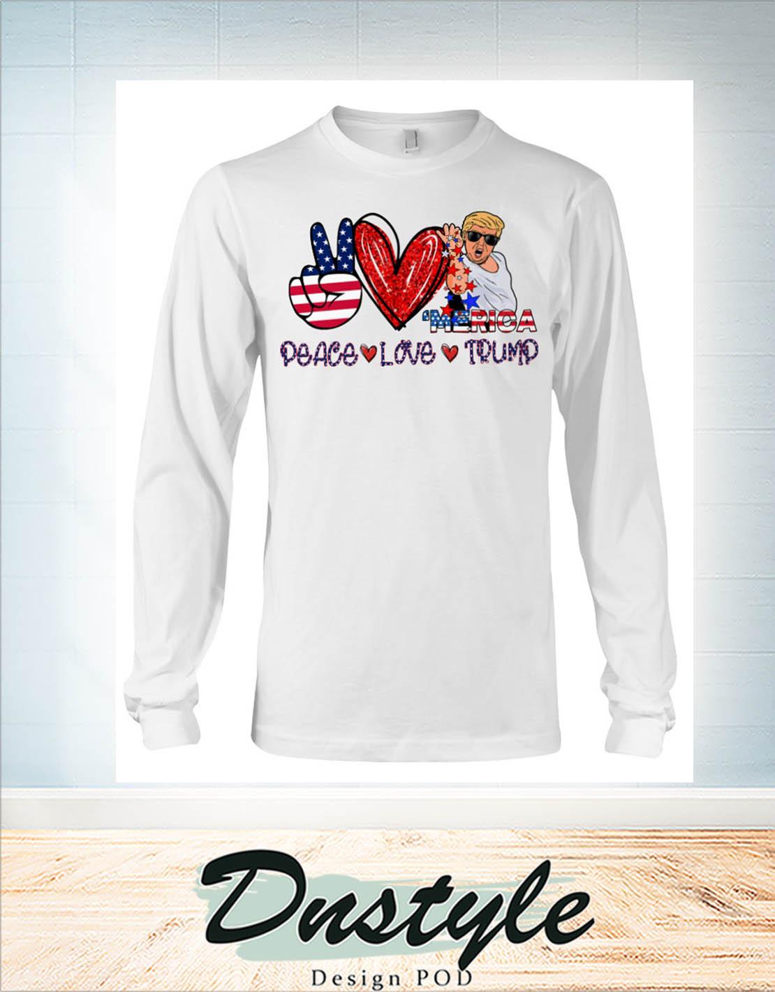 Merica peace love trump Salt bae long sleeve