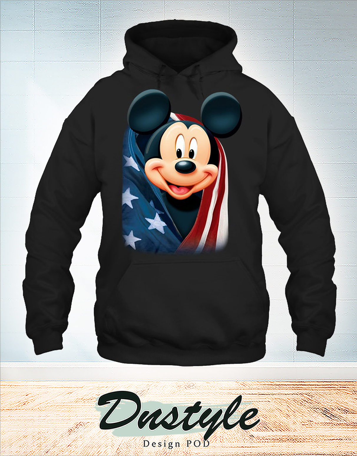 Mickey cool and freedom american flag hoodie