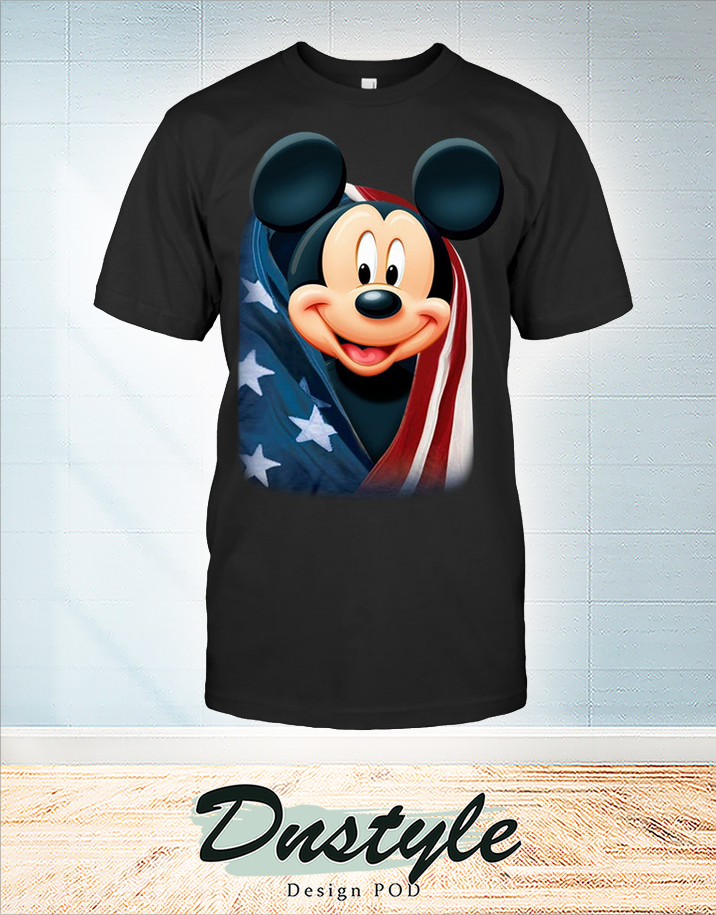 Mickey cool and freedom american flag shirt