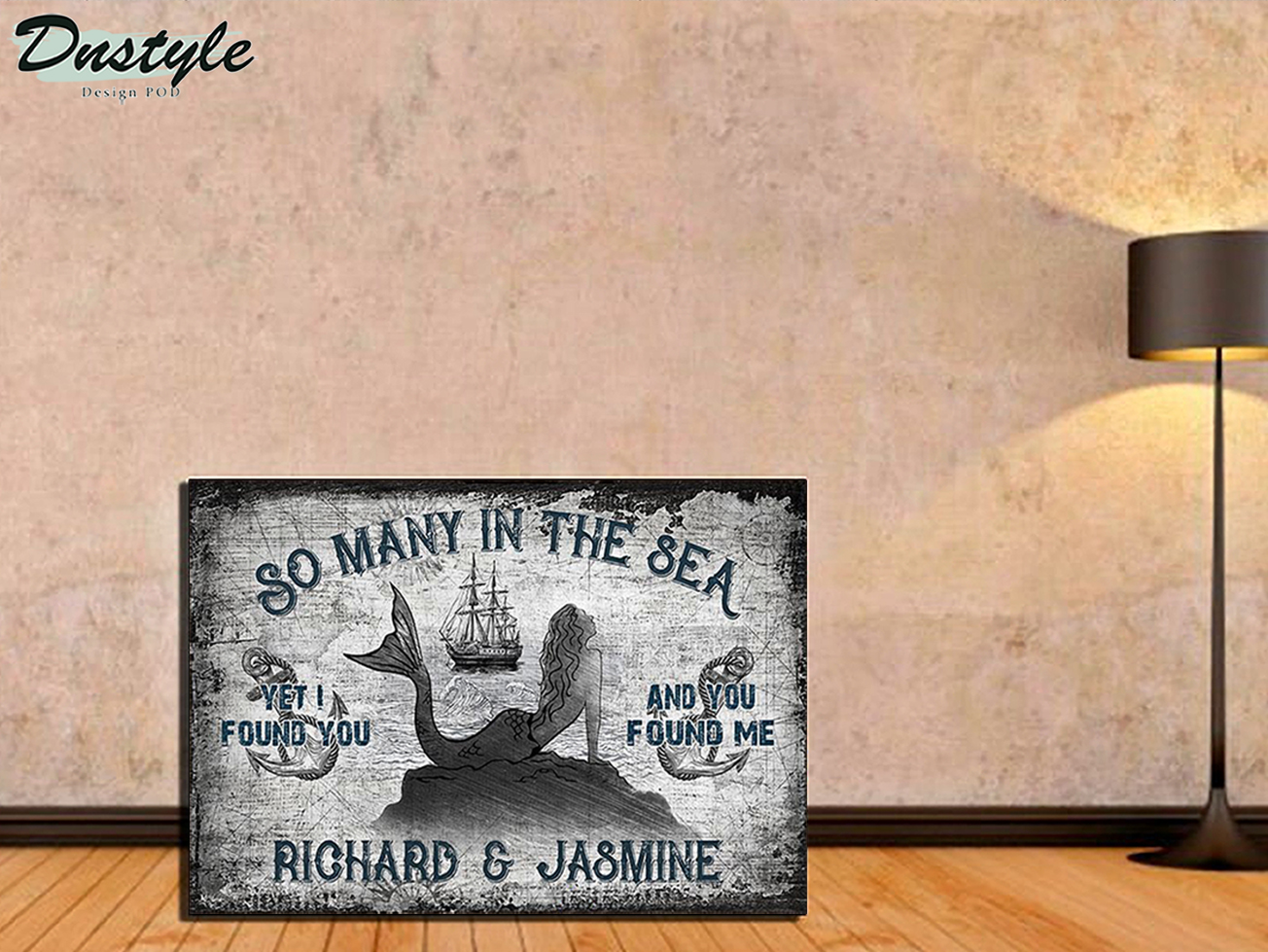 Personalized custom name sailor mermaid so many in the sea poster A2