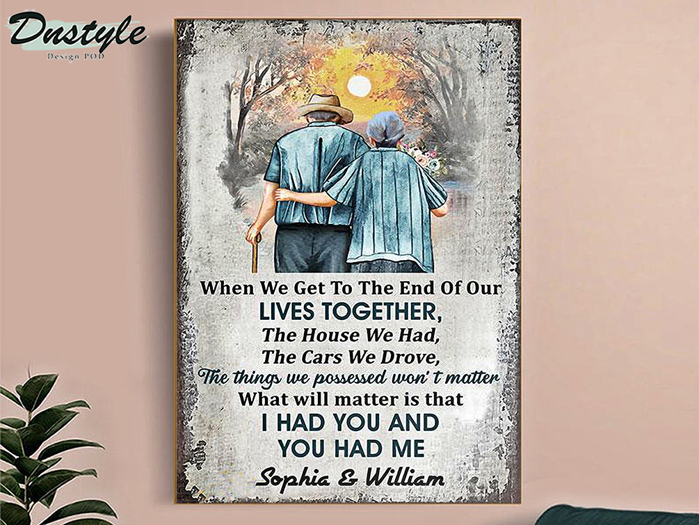 Personalized family vertical old couple when we get customized poster A2