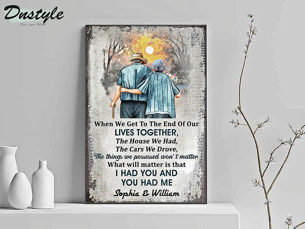 Personalized family vertical old couple when we get customized poster A3