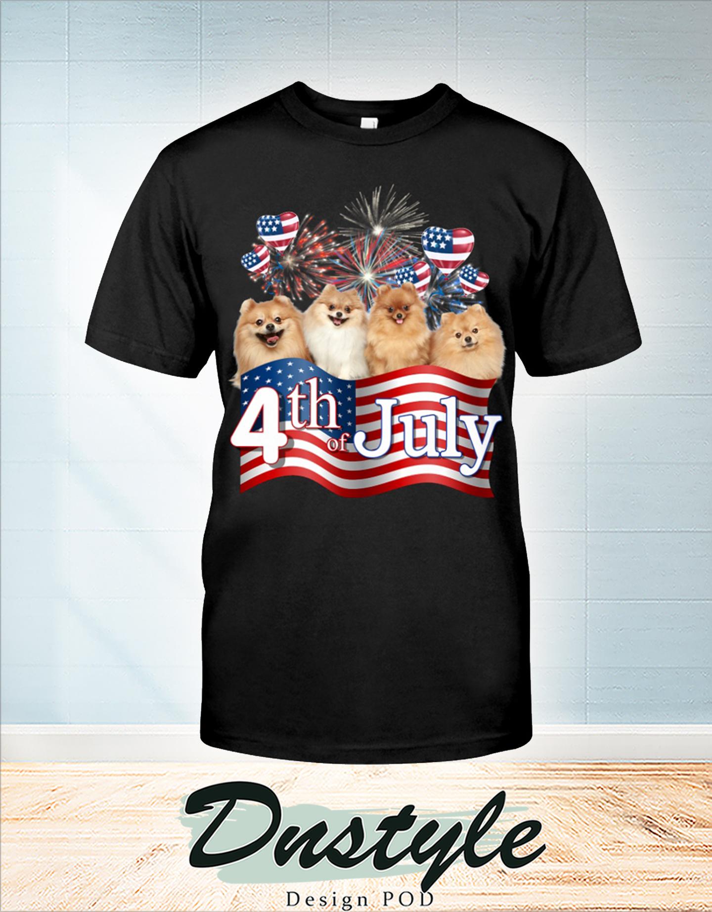 Pomeranian we love america 4th of july t-shirt