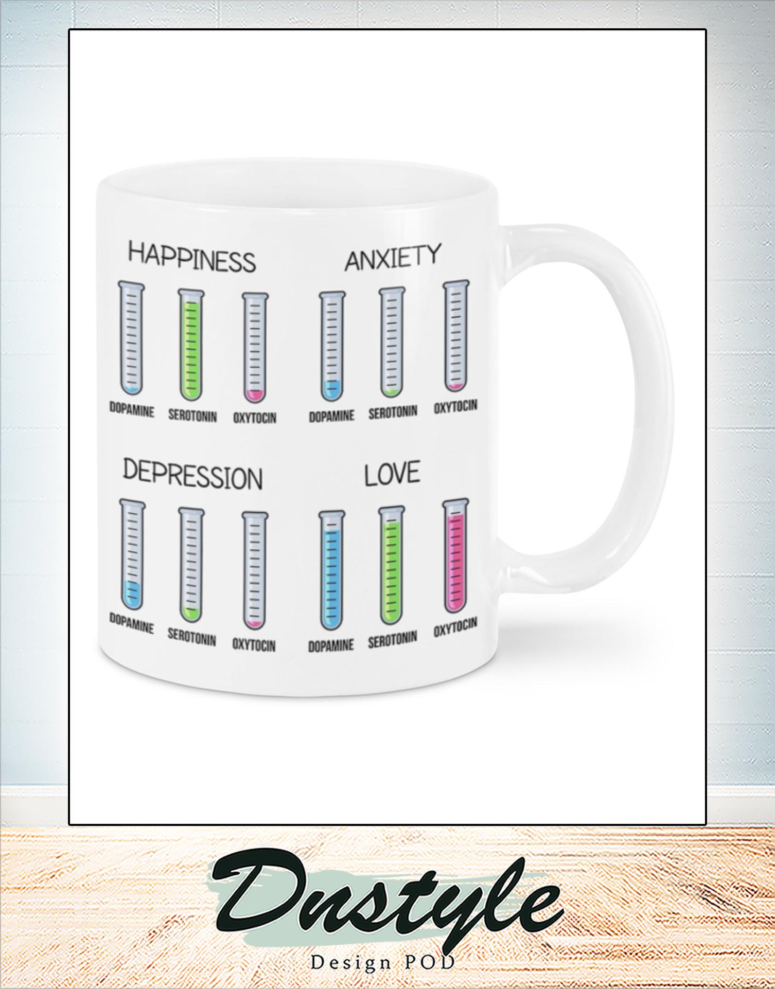 Psychiatrist emotion chemistry mug