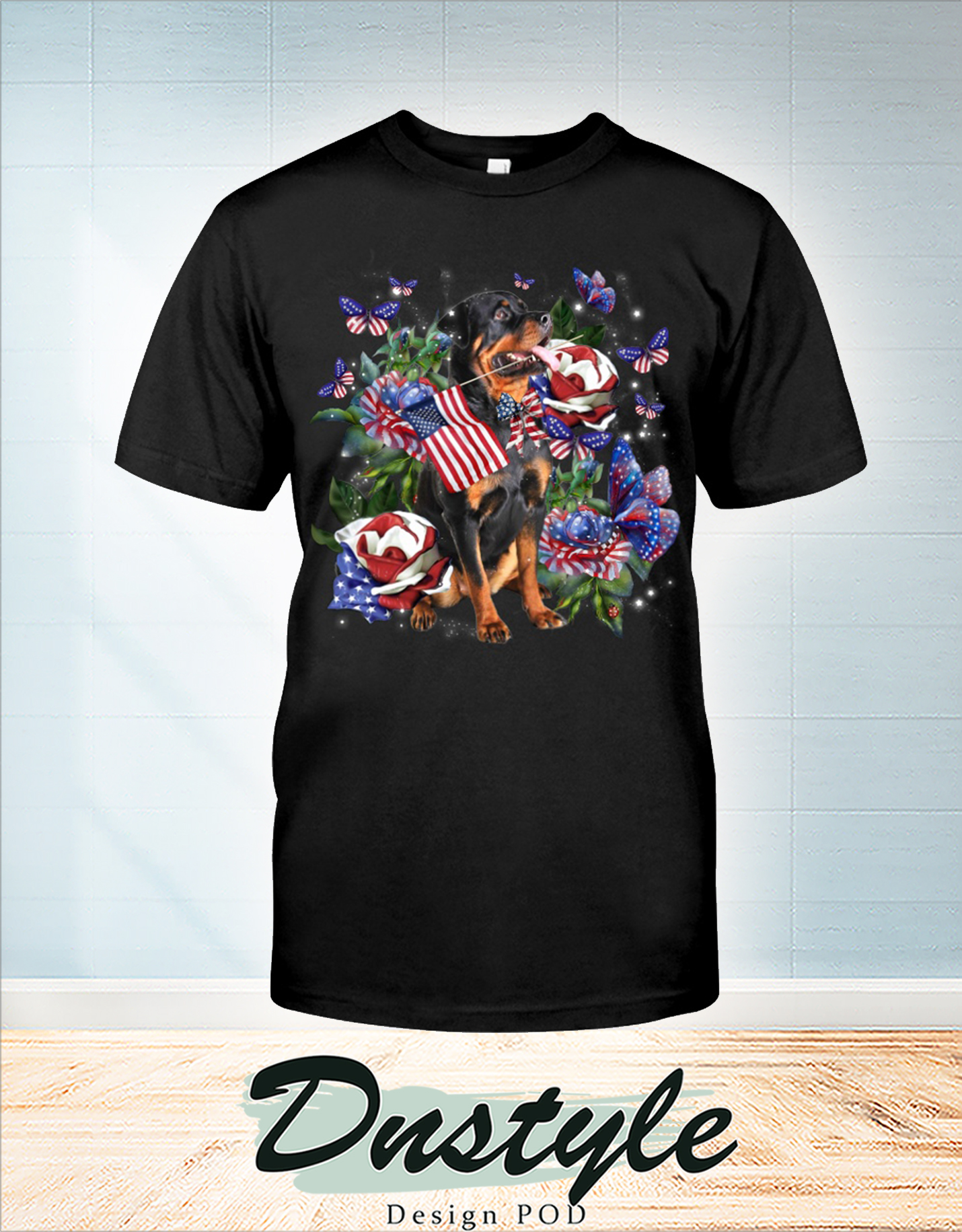 Rottweiler only one nation I love american flag 4th of july t-shirt