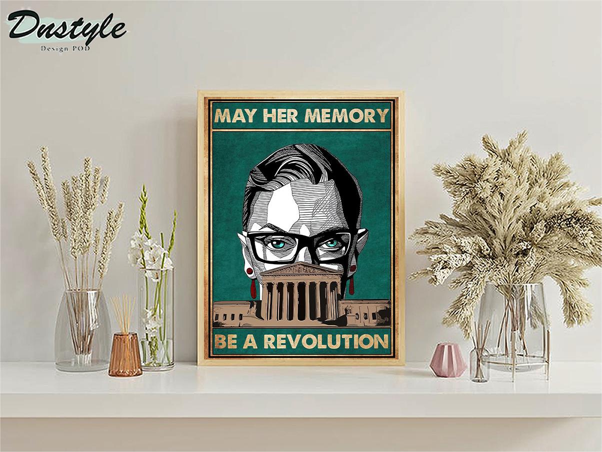 Ruth bader ginsburg may her memory be a revolution poster A2