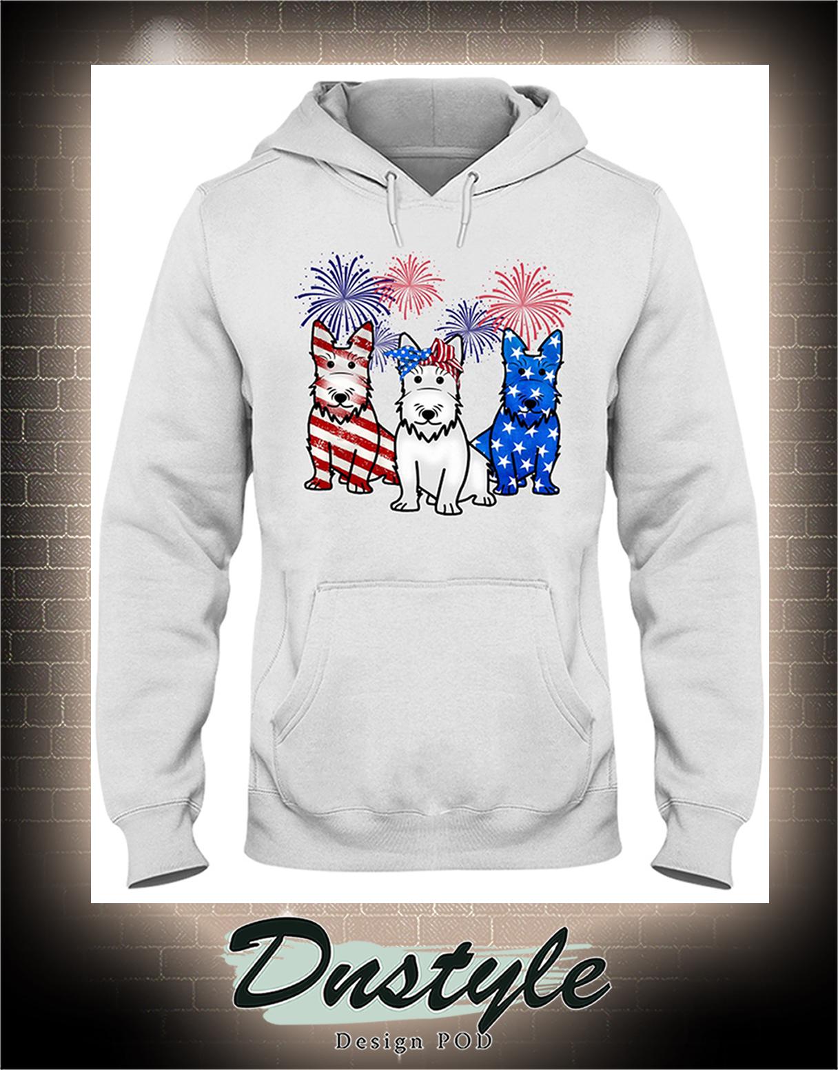 Scottish Terrier american flag colors hoodie