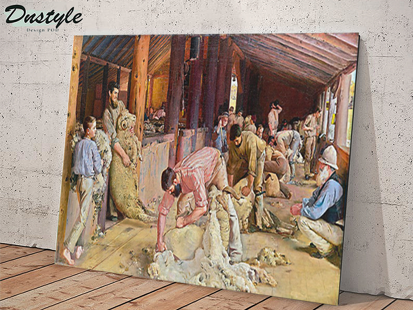 Shearing the rams by tom roberts 1890s canvas large
