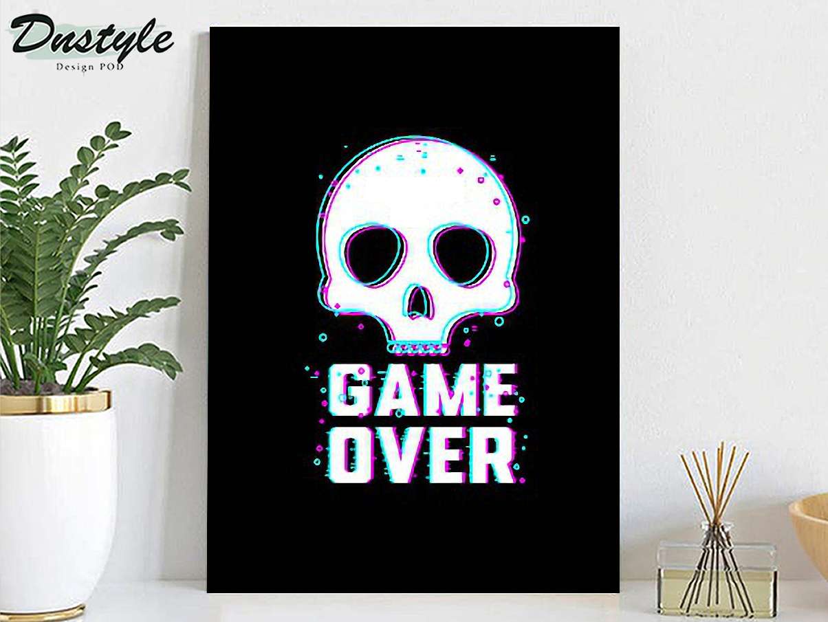 Skull game over poster A1