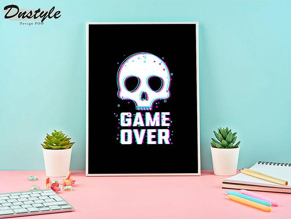 Skull game over poster