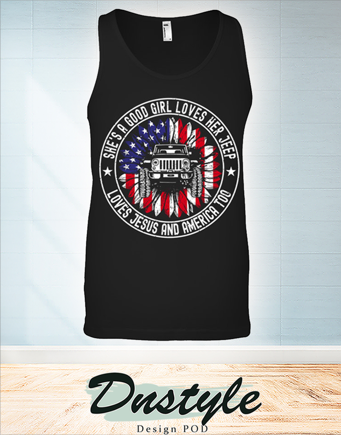 Sunflower she's a good girl love jesus and america too tank