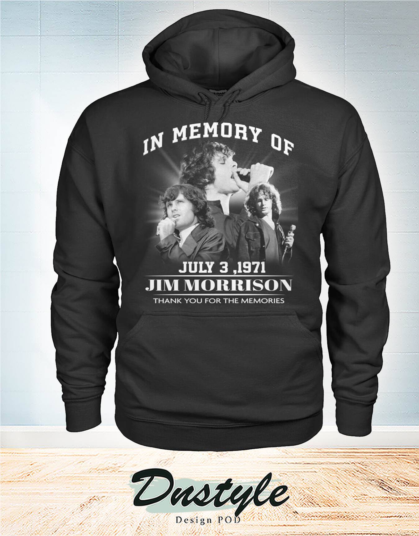 The doors In memory of Jim Morrion july 3 1971 thank you for the memories hoodie
