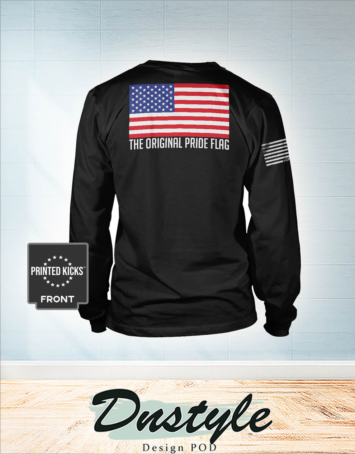 The original pride flag american flag independence day long sleeve