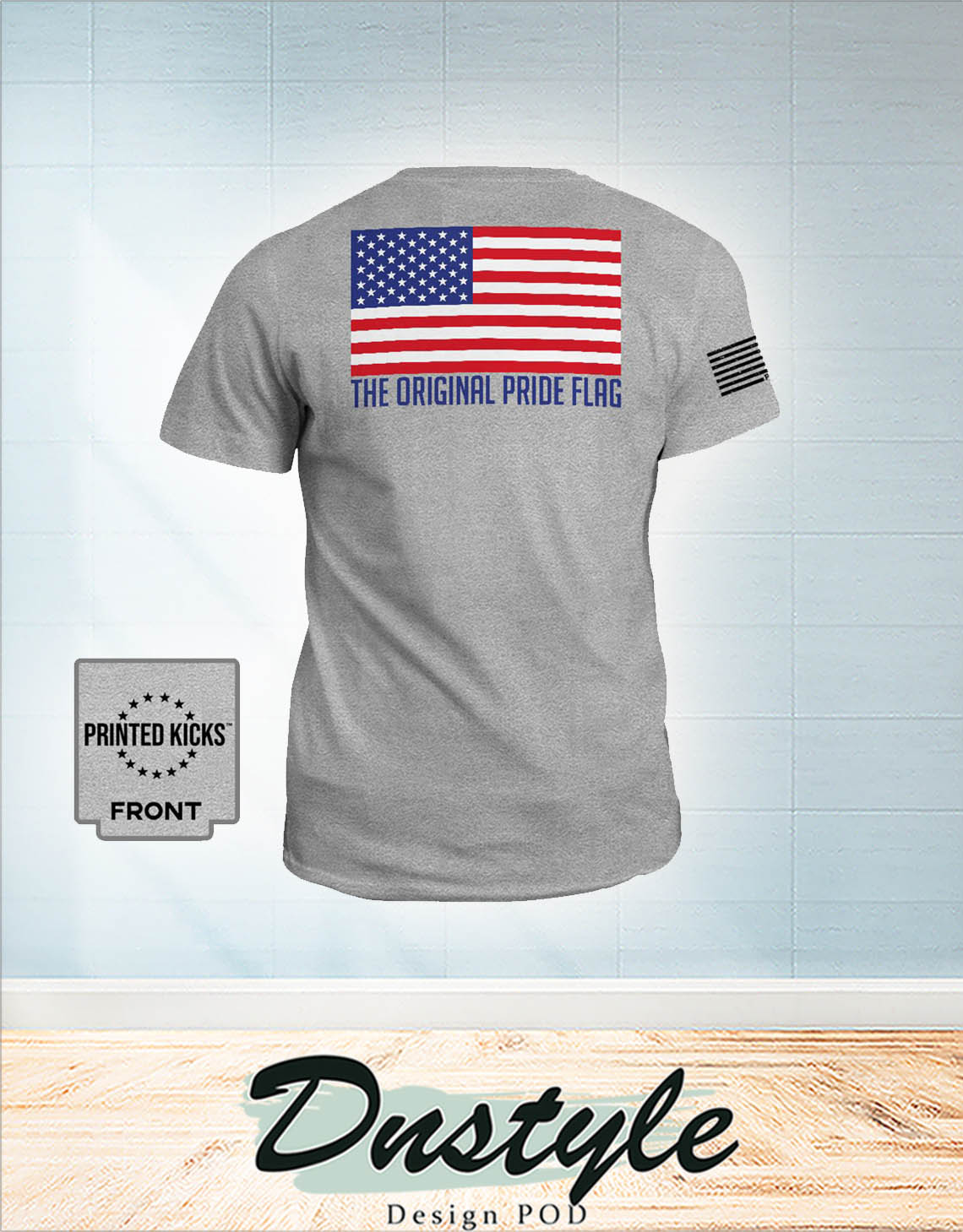 The original pride flag american flag independence day shirt