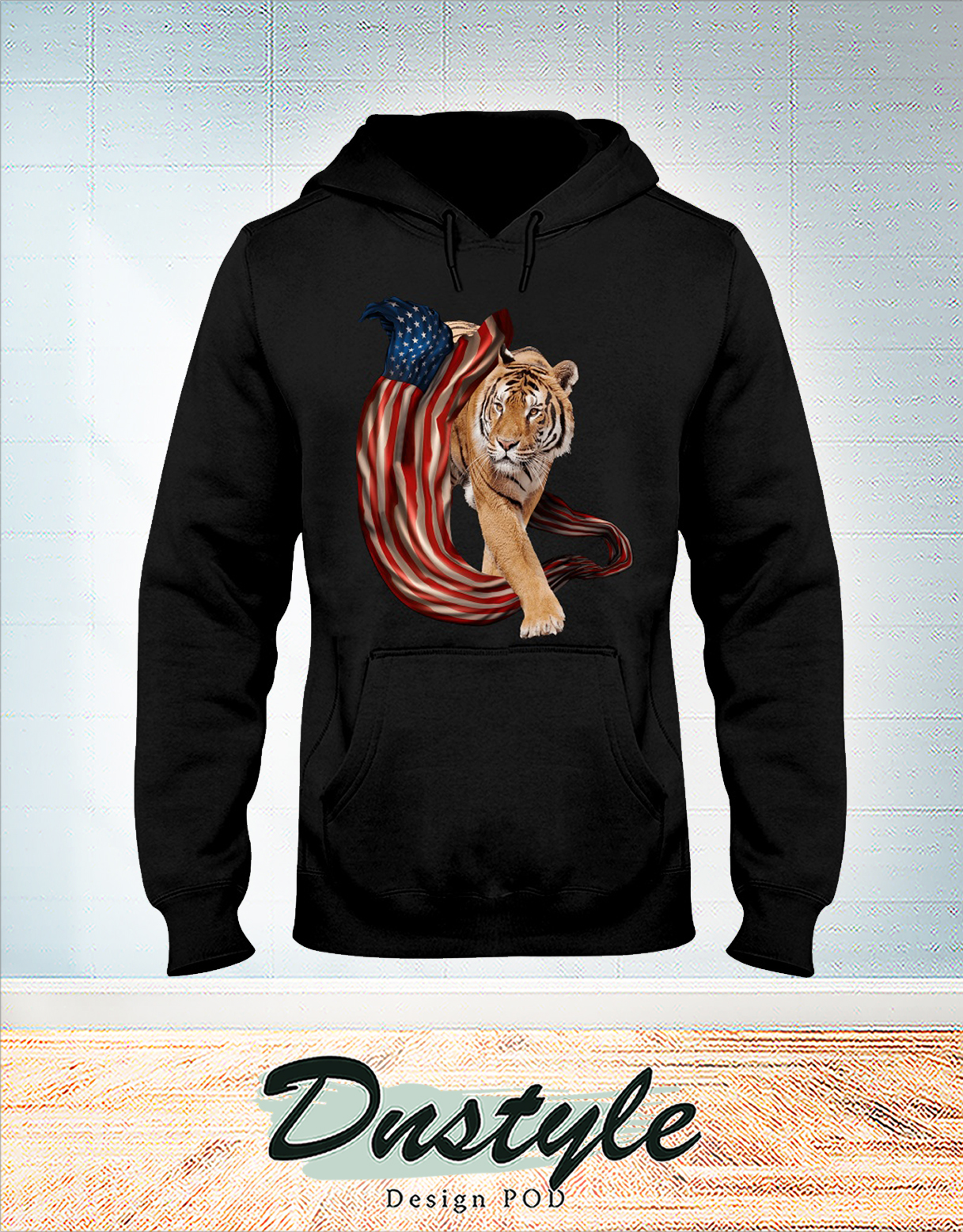 Tiger cool and freedom 4th july hoodie