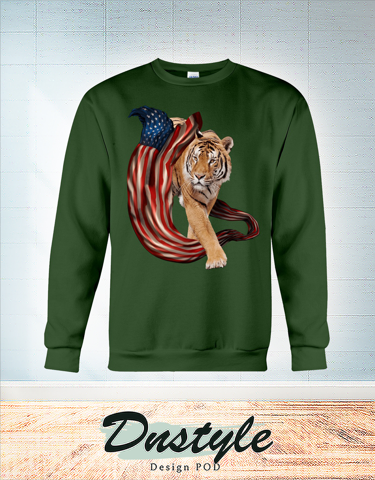 Tiger cool and freedom 4th july sweatshirt