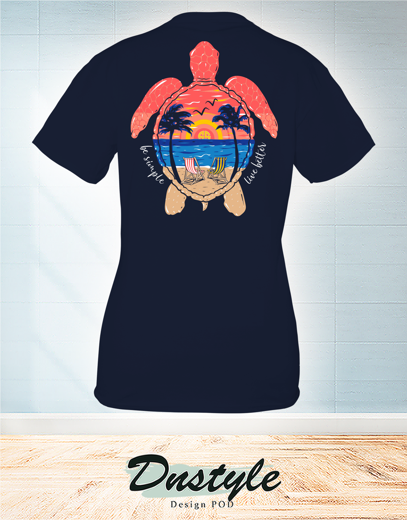 Turtle beach be simple live better t-shirt