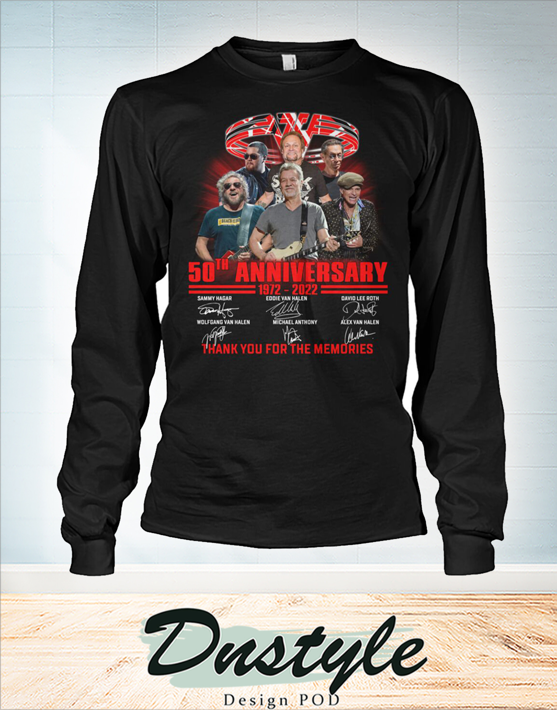 Van Halen 50th 1972 2022 anniversary thanks you for the memories long sleeve