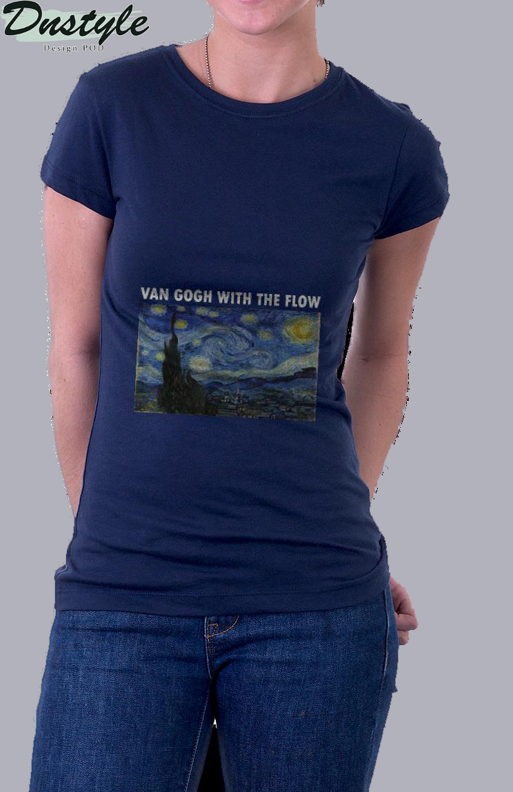 Van gogh with the flow t-shirt 1