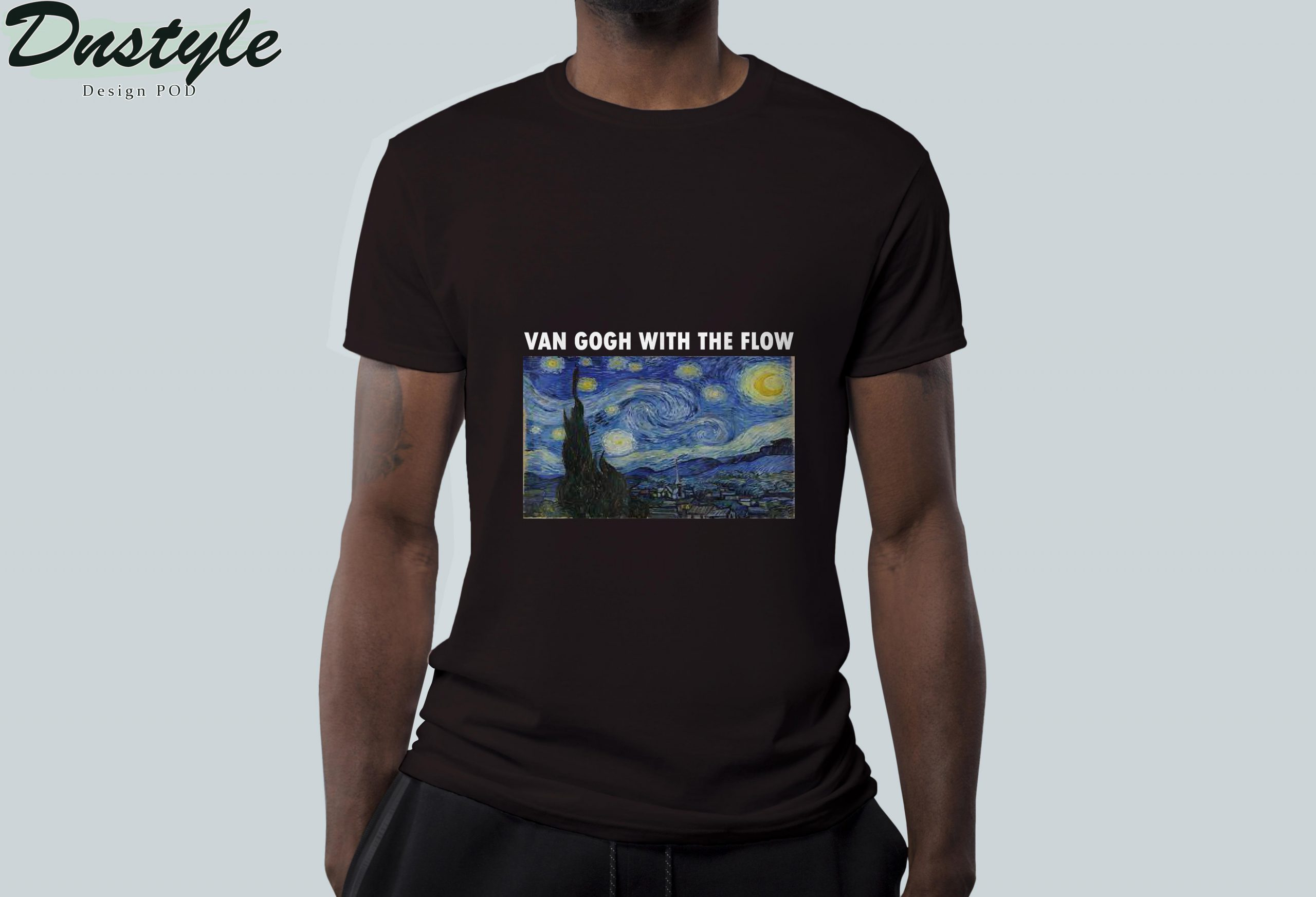 Van gogh with the flow t-shirt 2