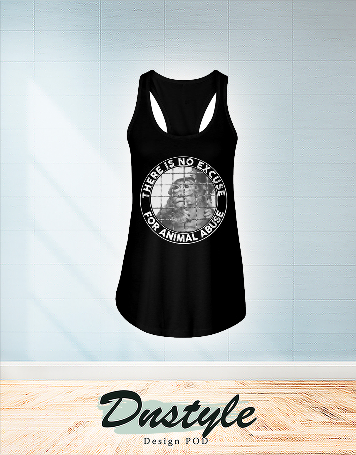 Vegan there is no excuse for animal abuse flowy tank