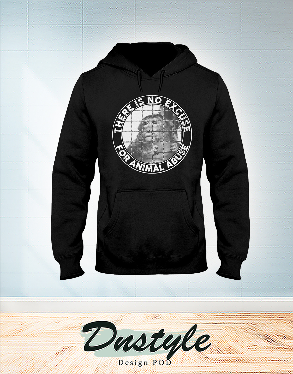 Vegan there is no excuse for animal abuse hoodie