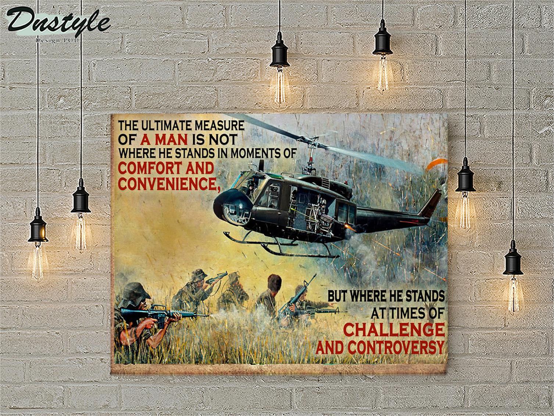 Veteran the ultimate measure of a man poster