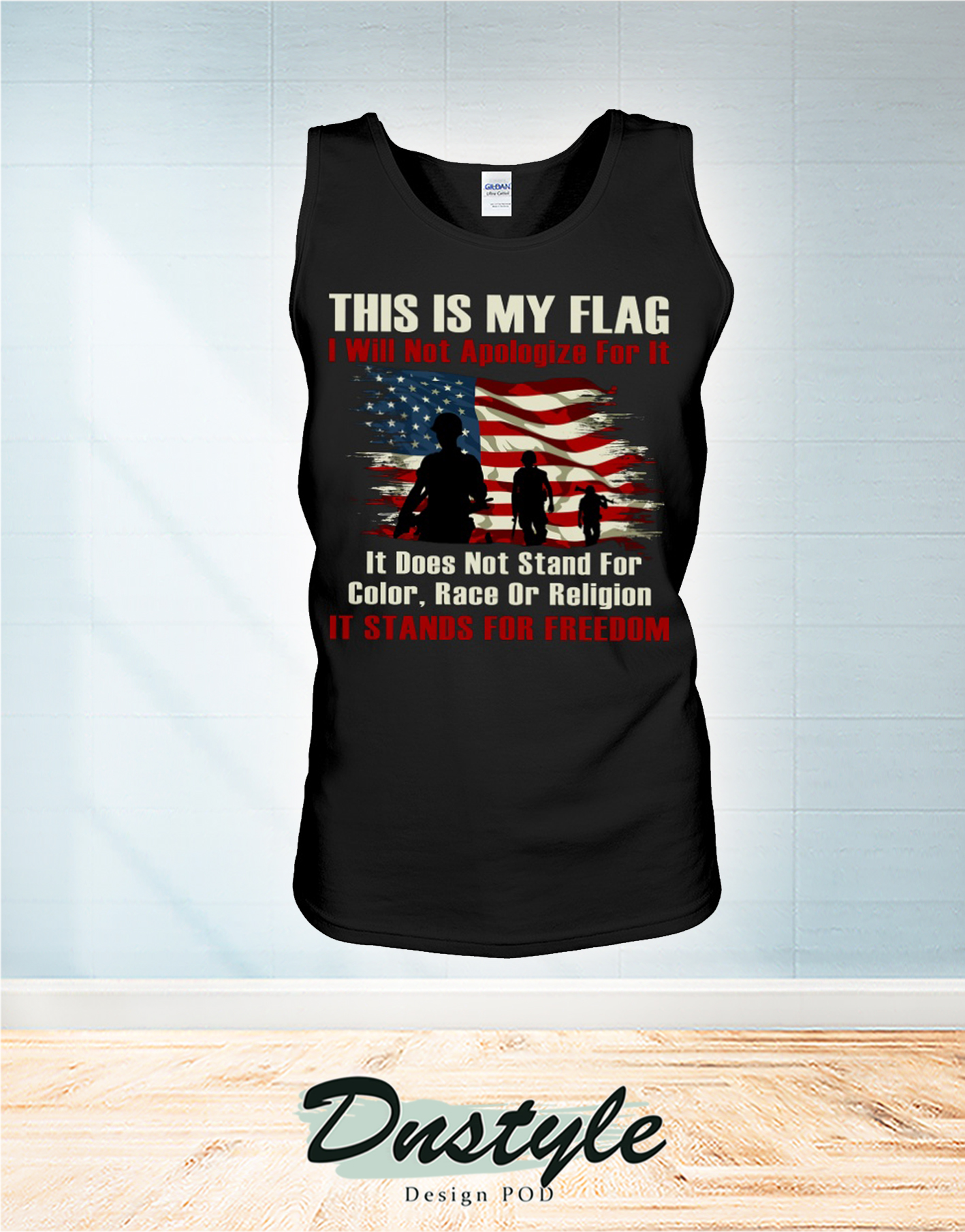 Veteran this is my flag I will not apologize for it tank