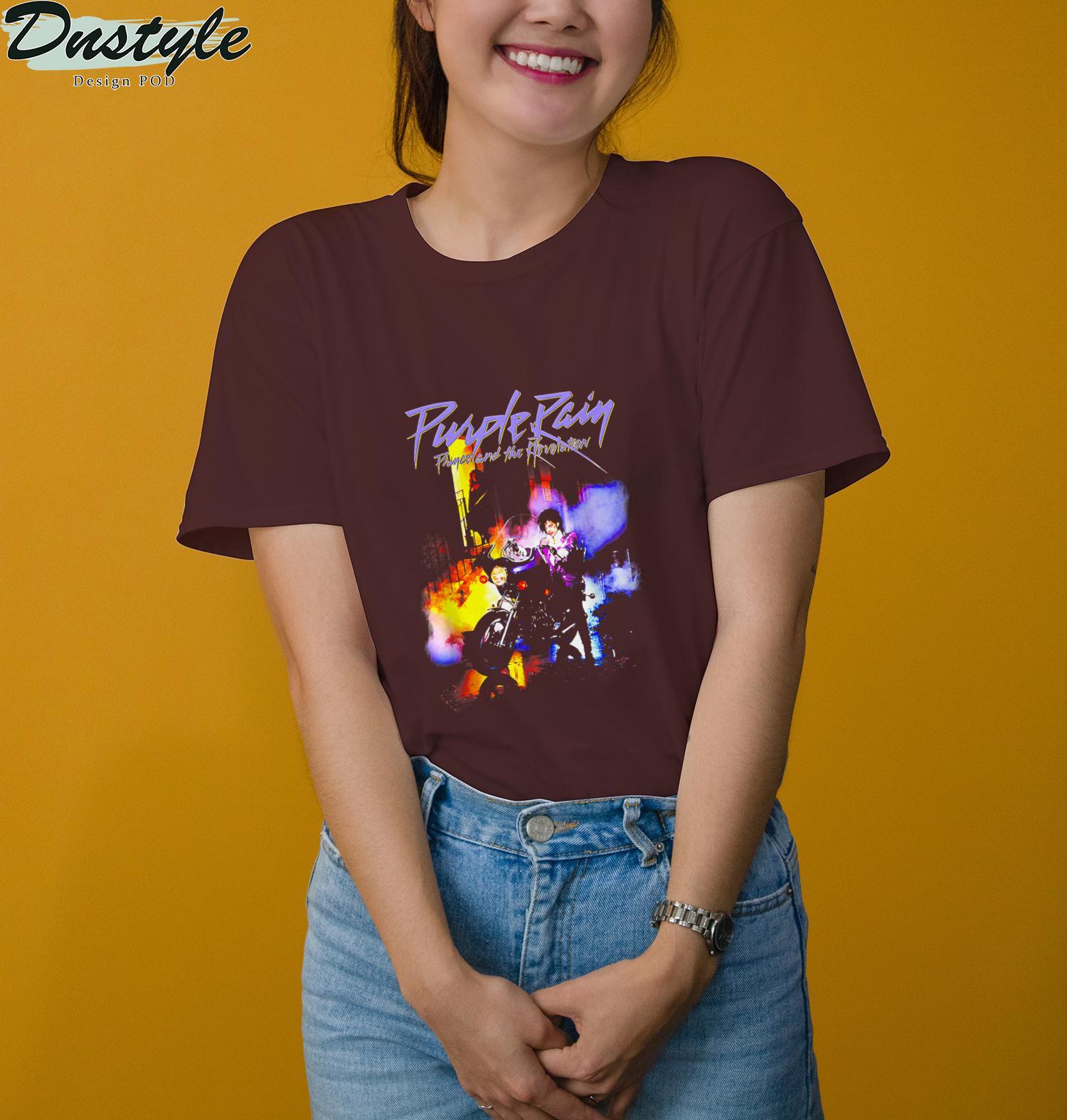 Vintage Summer Rains Color Purple Man Motorcycle Gift Lover T-Shirt 1
