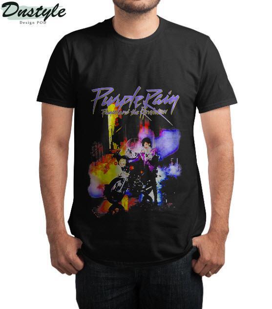 Vintage Summer Rains Color Purple Man Motorcycle Gift Lover T-Shirt
